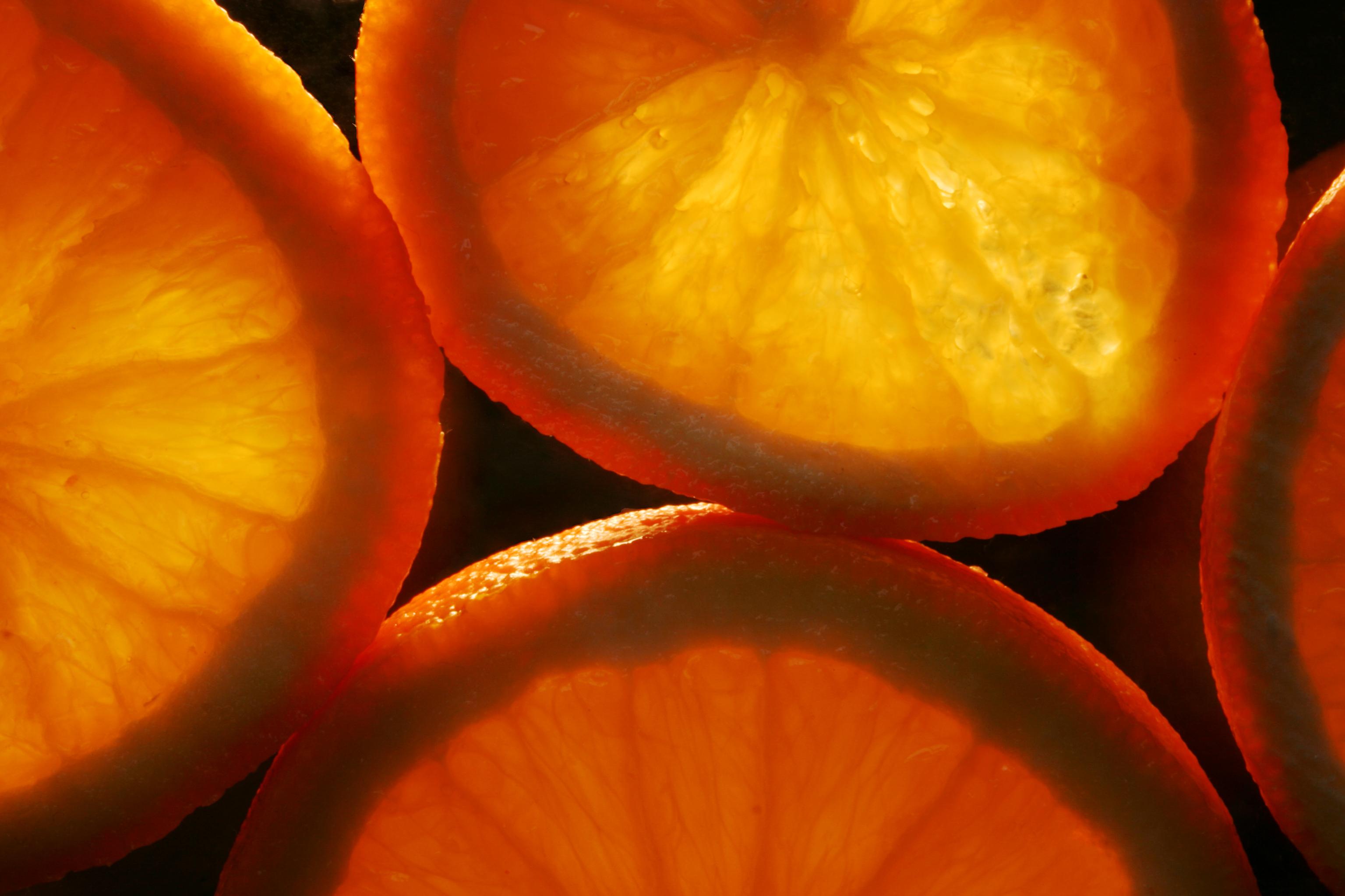 fruit acids from oranges